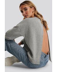 NA-KD Gray Open Back Sweatshirt