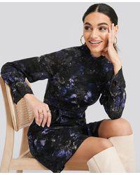 Trendyol Patterned Mini Dress - Bleu