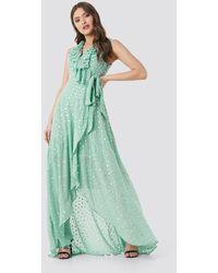 Trendyol Polka Dots Evening Dress - Groen