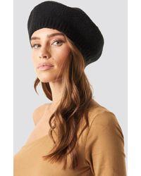 fa492ae4d099f NA-KD Embellished Beret Hat Black in Black - Lyst