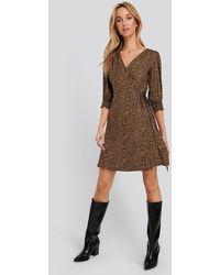 Trendyol - Patterned Mini Dress - Lyst