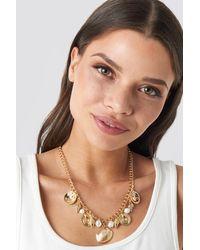 NA-KD Multi Shell Pendant Necklace - Metallic