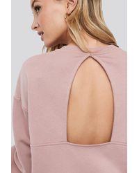 NA-KD Cut Out Oversized Sweatshirt Pink