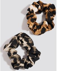 NA-KD - Multicolor 2-pack Leopard Scrunchies - Lyst
