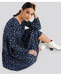 Trendyol Patterned Maxi Dress - Blau