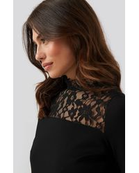 Trendyol Lacy Knitted Blouse - Schwarz