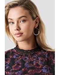 NA-KD - Fine Line Earrings Silver - Lyst