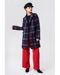 NA-KD - Checked Short Coat - Lyst