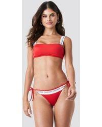 Calvin Klein String Side Tie Bikini - Rouge