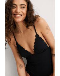 Mango Black Elba Swimsuit