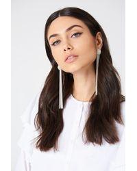 NA-KD - Diamond Chain Tassle Earrings - Lyst
