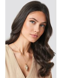 NA-KD Accessories Long Shell Necklace - Natur