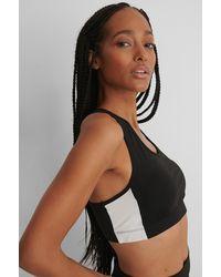Trendyol Black Side Stripe Padded Sports Bra