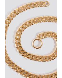 NA-KD Accessories Chain Belt - Mettallic