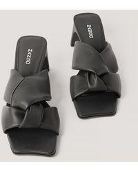 Mango Sandalen Met Strikdetail - Zwart