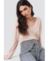 Samsøe & Samsøe - Lemba V-neck Sweater Rose Mel - Lyst