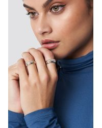 NA-KD - Gold Detailed Rings Silver/gold - Lyst