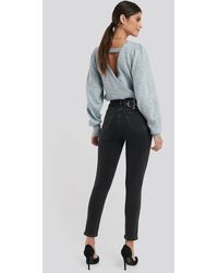 Calvin Klein Black 010 High Rise Skinny Ankle Jeans - Gray