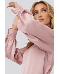 Trendyol Standing Collar Blouse Pink