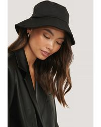 NA-KD Black Bendable Edge Bucket Hat