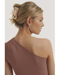 NA-KD Glanzende Haarclip - Roze