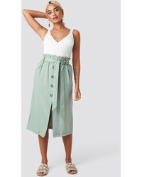 Trendyol Binding Detail Midi Skirt - Groen