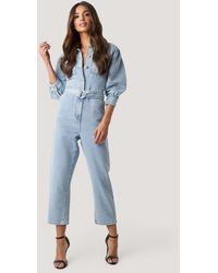 NA-KD - Puff Sleeve Jumpsuit - Lyst