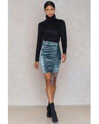 Dance & Marvel - Sequins Mini Skirt Slate Blue - Lyst