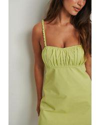 Mango Dress Damas - Groen