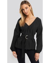 Trendyol Puff Sleeve Detailed Blouse Black