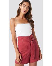 Mango Pocket Shorts Red