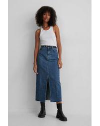 Mango Blue Denim 70 Skirt