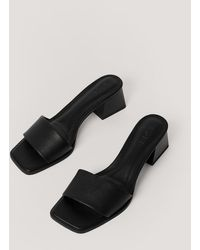 NA-KD Shoes Basic Block Heeled Mules - Schwarz