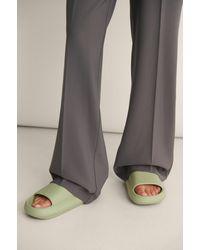 NA-KD Shoes Pantoffel Van Rubber - Groen