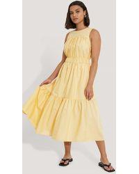Trendyol - Yellow Carmen Midi Dress - Lyst
