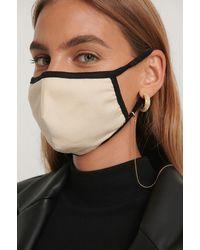 NA-KD Accessories Basic Mask Chain - Metallic