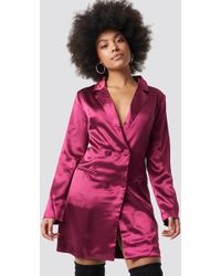 Glamorous - Satin Suit Dress Mulberry Satin - Lyst