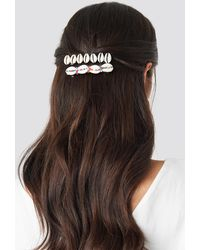 Mango White Manila 2-pack Hairclip - Metallic