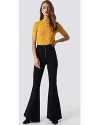 Trendyol - Flared Trousers Black - Lyst