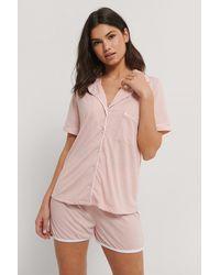 Trendyol Pink Buttoned Pyjamas Set