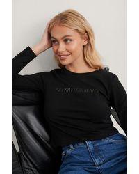 Calvin Klein - Cropped T-shirt - Lyst