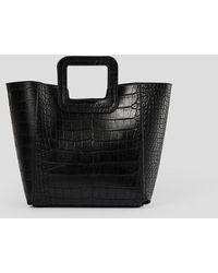 NA-KD Squared Handle Shopper - Zwart
