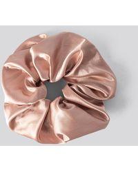 NA-KD Oversize Satin Scrunchie - Rose