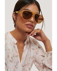 Mango Beige Sara Sunglasses - Natural