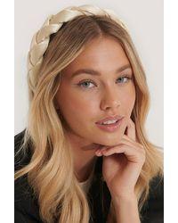 NA-KD Grote Gevlochten Haarband - Meerkleurig