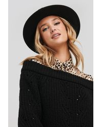 NA-KD - Off Shoulder Pointelle Knitted Sweater - Lyst