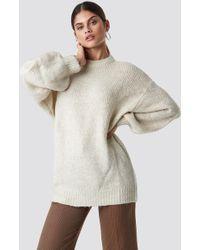 Mango - Saudade Sweater Ecru - Lyst