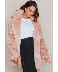 NA-KD - Colored Faux Fur Coat - Lyst