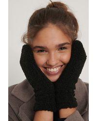 NA-KD Black Teddy Gloves
