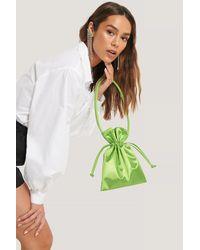 NA-KD Green Satin Pouch Bag